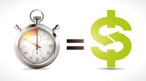 Time is money - economy Royalty Free Stock Photo