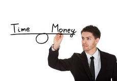 Time and money equilibrium Stock Photography