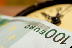 Time is money with Euro Stock Image