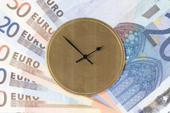 Time is Money - Euro Version. Image depicting the concept Time is Money using Euro symbols on the clock face Stock Photos