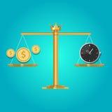 Time money exchange compare price Stock Photos