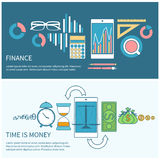 Time is money and finance concept Royalty Free Stock Photo