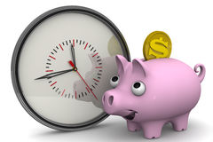 Time is money. Financial concept Royalty Free Stock Image