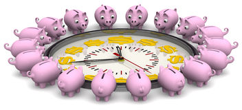 Time is money. Financial concept Stock Photo
