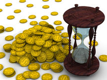 Time is money. Financial concept Royalty Free Stock Photography