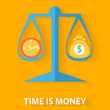 Time is money flat design concept Stock Image