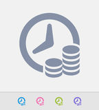 Time & Money - Granite Icons Stock Photos