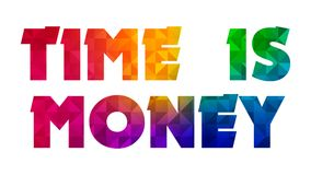 Time is Money Graphic 002 - White Background. High Resolution vector illustration