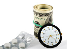 Time, Money And Healthcare Stock Photography
