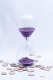 Time is Money hourglass Royalty Free Stock Images
