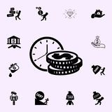 Time Is Money icon. Profit icons universal set for web and mobile vector illustration