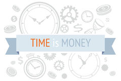 Time is money icons concept Stock Photos