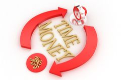 Time And Money Illustration Royalty Free Stock Photo