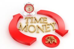 Time And Money Illustration Royalty Free Stock Photos