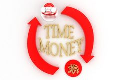 Time And Money Illustration Royalty Free Stock Image