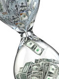 Time is money. Inflation. Hourglass and dollar. Royalty Free Stock Image