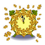 Time is money. Isolated vector illustration Royalty Free Stock Images