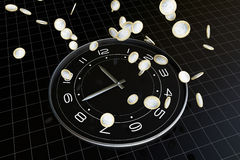 Time and money. The meaning of this picture is time is very precious, is like money, we will cherish Stock Photography