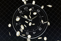 Time and money. The meaning of this picture is time is very precious, is like money, we will cherish Stock Images