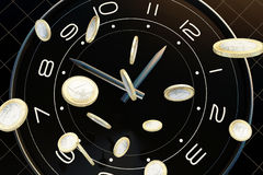 Time and money. The meaning of this picture is time is very precious, is like money, we will cherish Royalty Free Stock Images