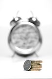 Time is Money - Mono 2. UK Minimum Wage 2006. Five Pound and Five Pence royalty free stock image
