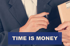 Time is money quotes - Business man background Royalty Free Stock Photos