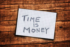 Time is money reminder Stock Image