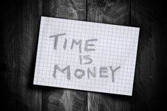 Time is money reminder Stock Images