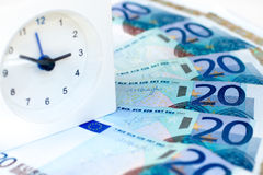 Time is money. The representation of idioms: time is money Stock Photography