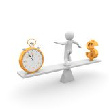 Time is money. And money rules the world Stock Photo