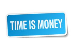 Time is money sticker. Time is money square sticker isolated on white background. time is money vector illustration