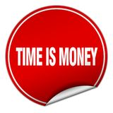 Time is money sticker. Time is money round sticker isolated on wite background. time is money stock illustration