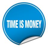 Time is money sticker. Time is money round sticker isolated on wite background. time is money royalty free illustration