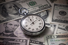 Time Money Business Management Dollars royalty free stock image