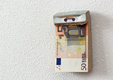 Time is money. Tear-off calendar consisting of banknotes Royalty Free Stock Photo