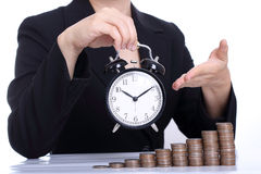 Time is Money or time works for you concept Royalty Free Stock Photo