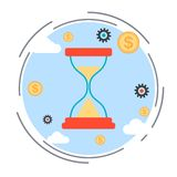 Time is money vector concept Royalty Free Stock Photo