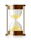 Time is money - vector hourglass with coins Royalty Free Stock Image
