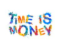 Time is money. Vector inscription Royalty Free Stock Photos