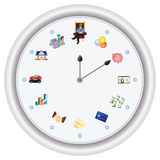 Time is money ---vector only, no bitmap. Time is money ***This special clock shows how a person can achieve their financial-goal in 12 periods of life-time. The vector illustration