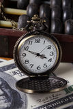 Time is money,vintage color. Stock Images