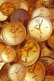 Time is money. Watches like coins. Image of idiom Royalty Free Stock Images