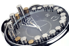 Time is money and wealth. Concept of time and money Stock Images