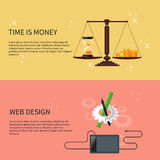 Time is money and web design Stock Image