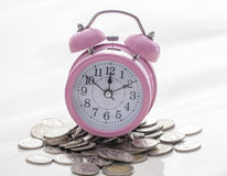 Time for money on white background Royalty Free Stock Photo