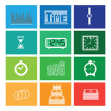 Time money windows Stock Images