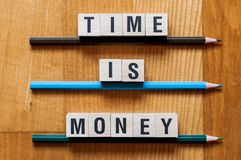 Time is Money word concept stock photo