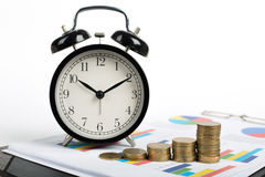 Time is money. With your finance Stock Images