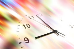 Time in motion. Stock Photo