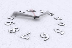 Time in motion. A 3D render of a running clock on white background Stock Images
